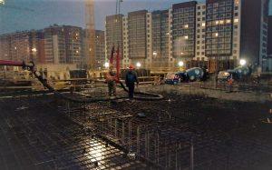 заливка 1-го этажа бетоном м350п4