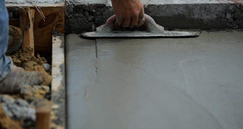бетон в солях